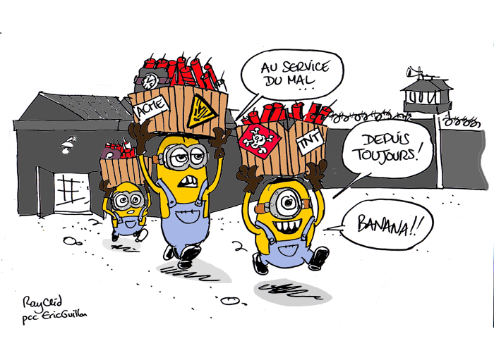 Content minions explosifs rayclid