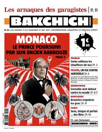 La couverture de Bakchich Hebdo 24 - JPG - 39.1ko
