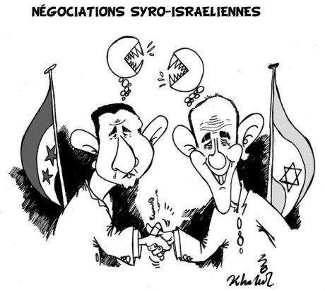 Bachar el-Assad et Ehud Olmert: leurs pays négocient depuis 4 ans - JPG - 50.2ko