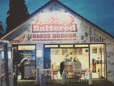 Baked and Battered Cobham store