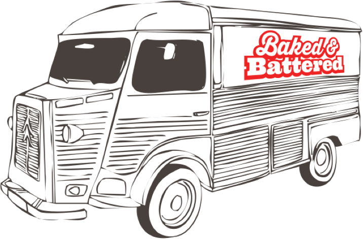 Baked and Battered catering van