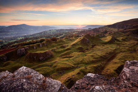 Sunrise at Llangattock Escarpment by Mark Bauer
