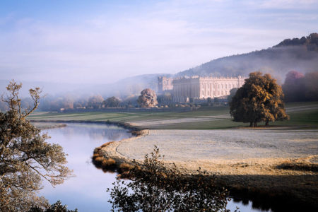 Chatsworth from the River Derwent by Joan Ransley