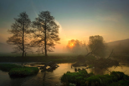 Sunrise over the Sinn River by Danièle Dugré