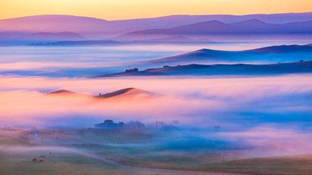 Hometown Fog by Lijunwang Wang