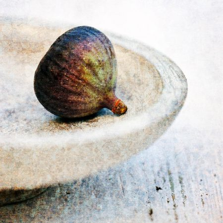 Fig on Wooden Bowl by James Guilliam