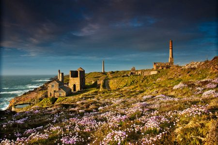 Levant Mine in Spring by Ian Bosworth