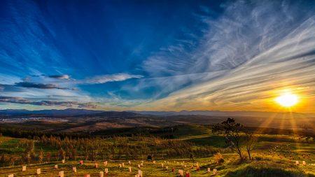 National Arboretum Sunset by Philip Abercrombie