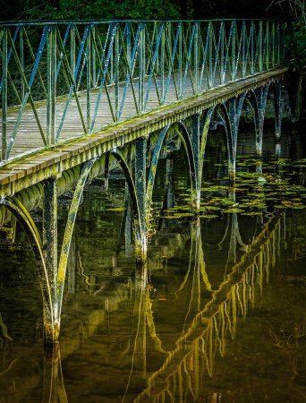 Footbridge Reflections by Elaine Cox
