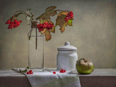 Still Life with Red Berries by Inna Karpova