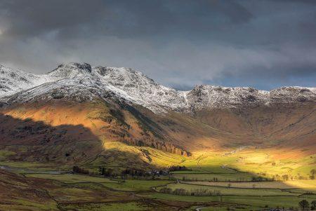 Winter Langdales by Nigel Morley