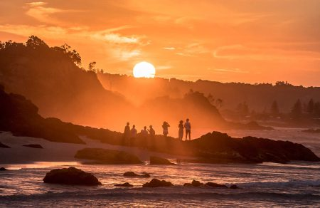 Sunset Gathering by Allan Wright