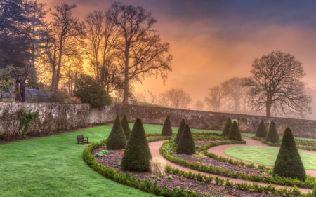 Upper Walled Garden Sunrise by Nigel McCall