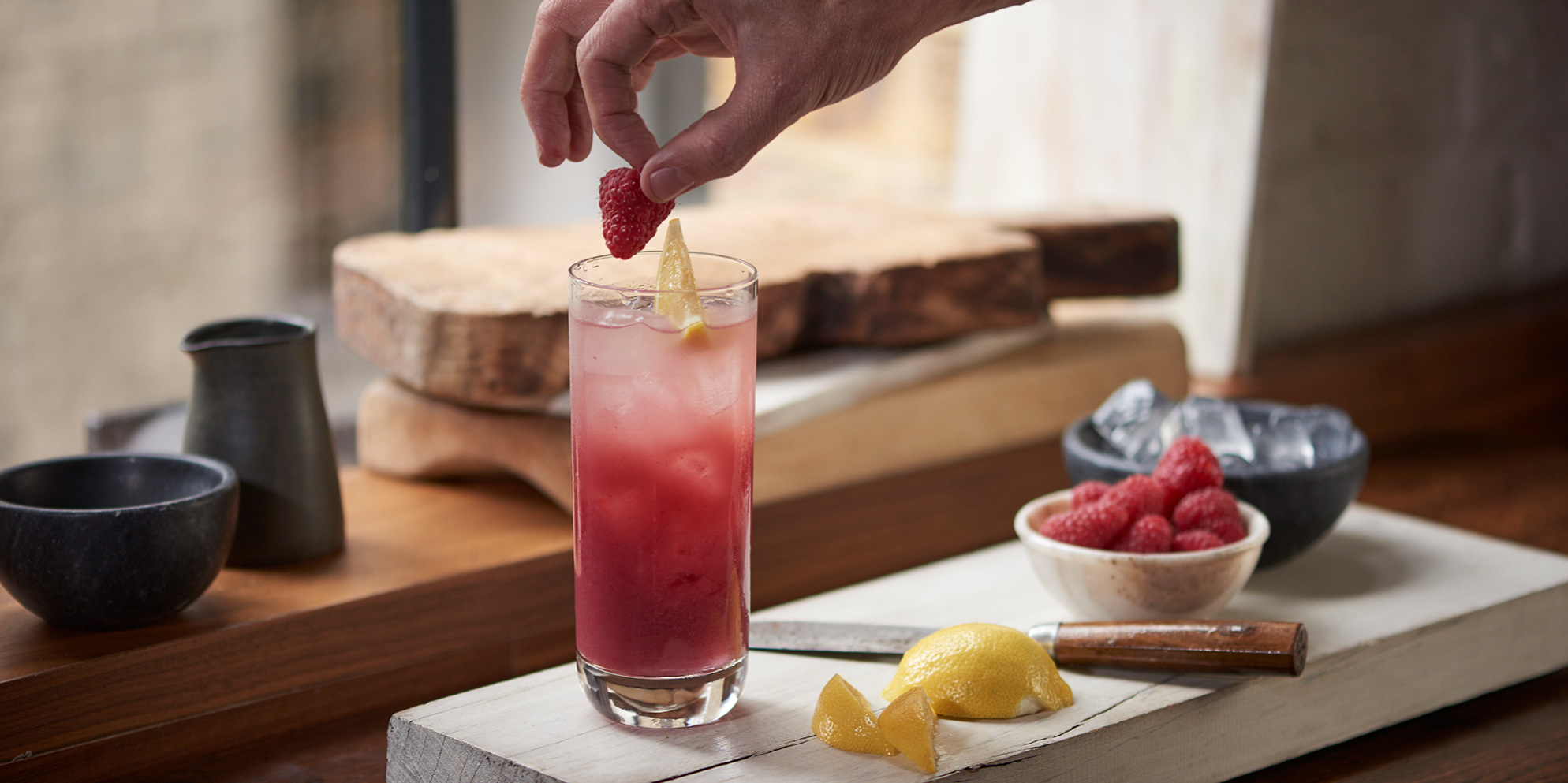 Whisky Cocktails | Raspberry Fizz | Summer
