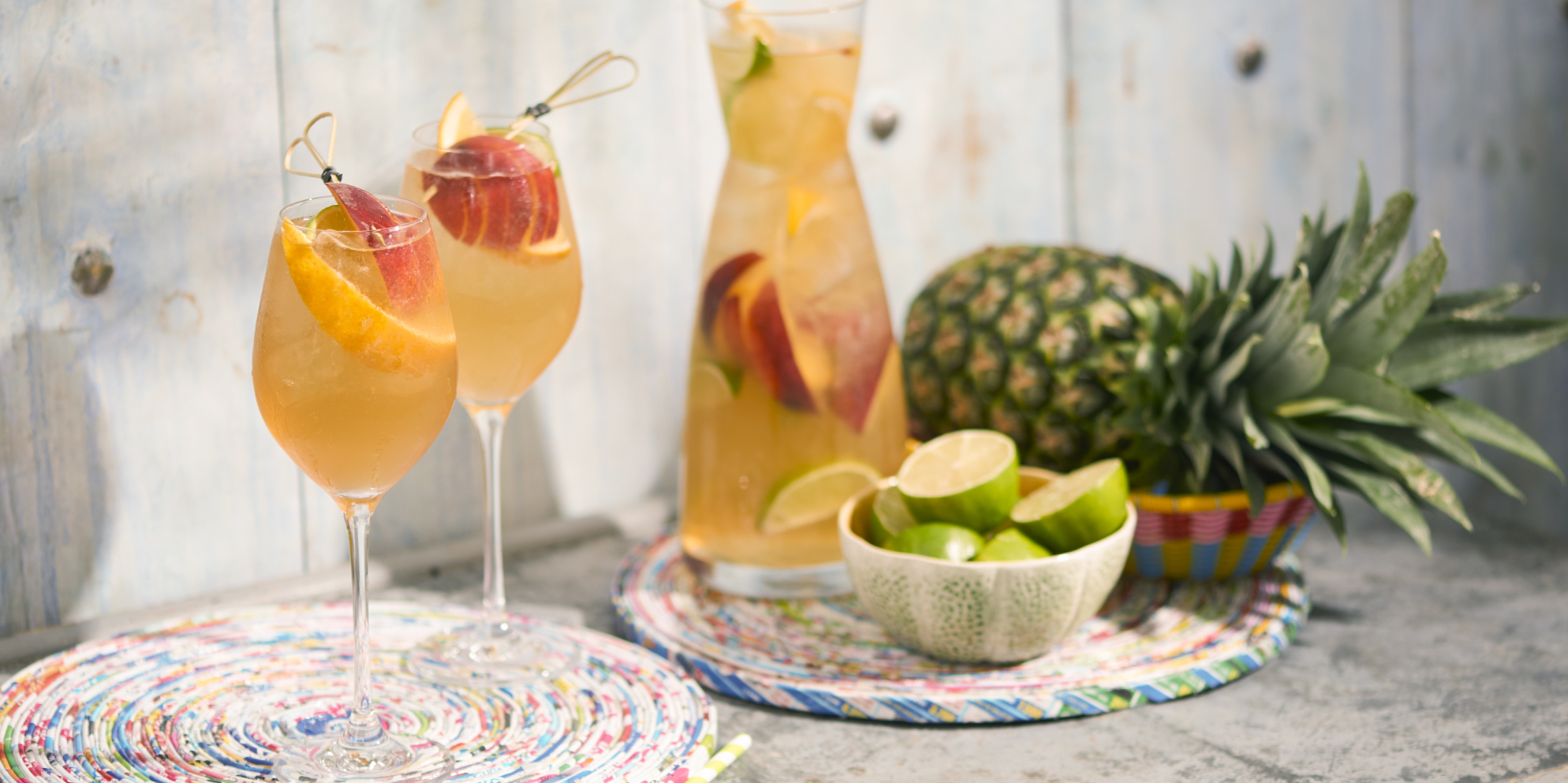 Whisky Cocktails | White Whisky Sangria | Summer