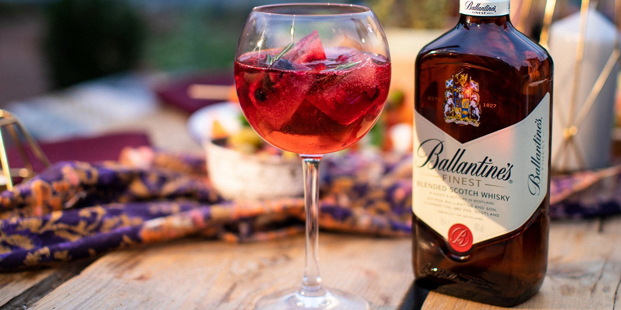 RASPBERRY WHISKY SPRITZ