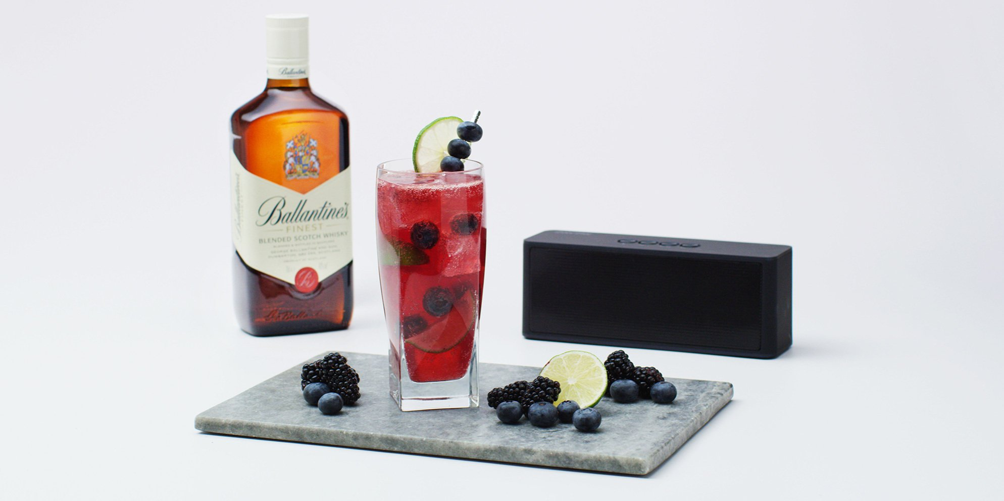 Whisky Cocktails | Blue Mojito | Berries
