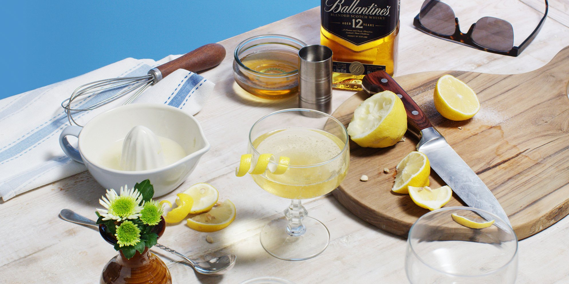 Whisky Cocktails | Honey Bubble | Summer | Ballantine's