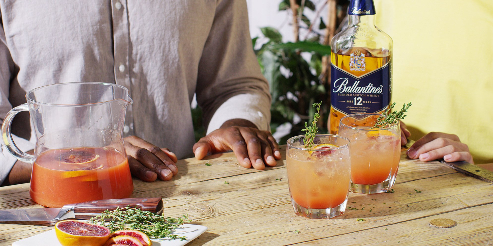 Whisky Cocktails | Blood Orange Smash | Refreshing  | Ballantine's