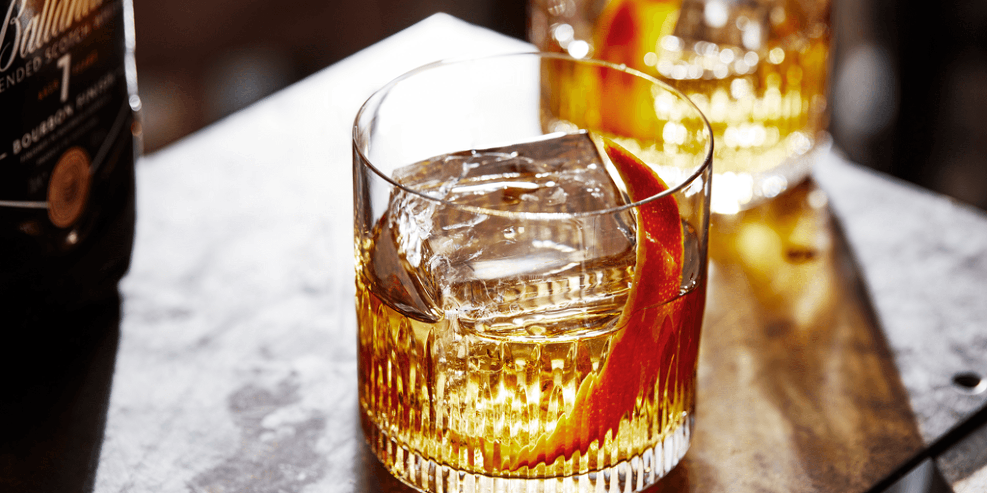 Old fashioned avec B7 Bourbon Finish