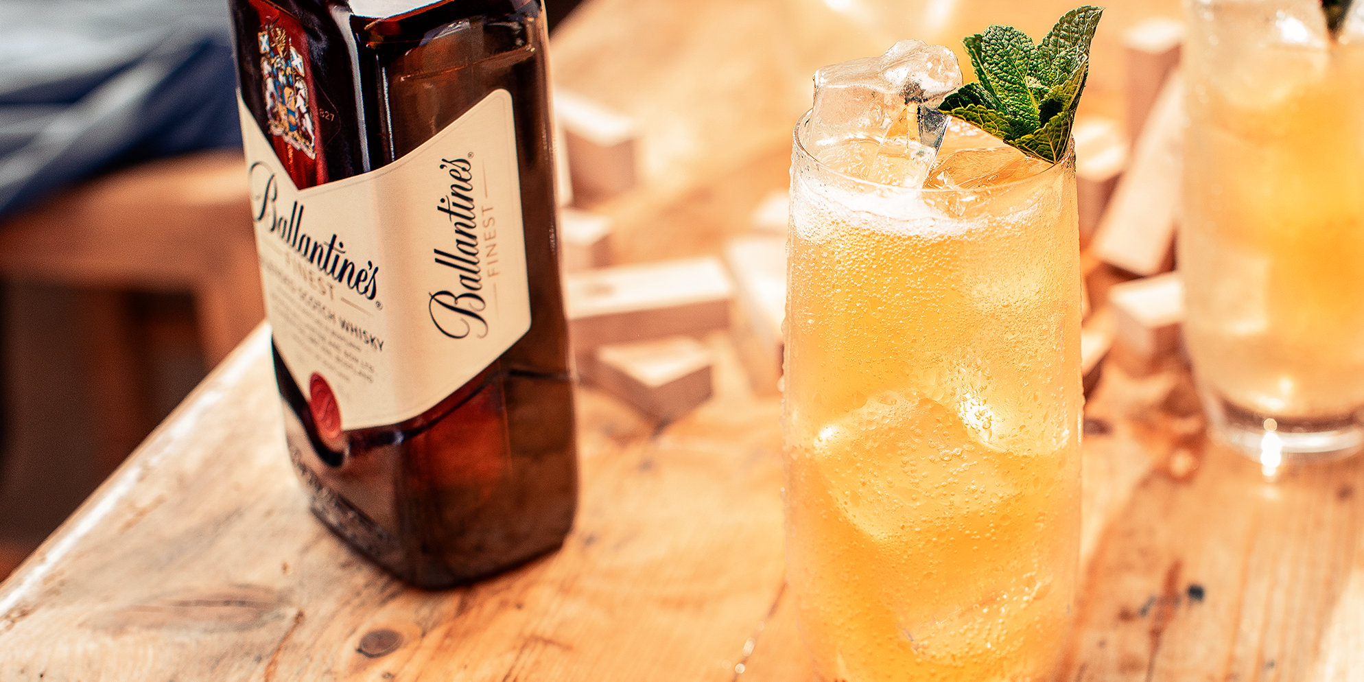 Cocktail whisky Ballantine's Finest | Apple Pop