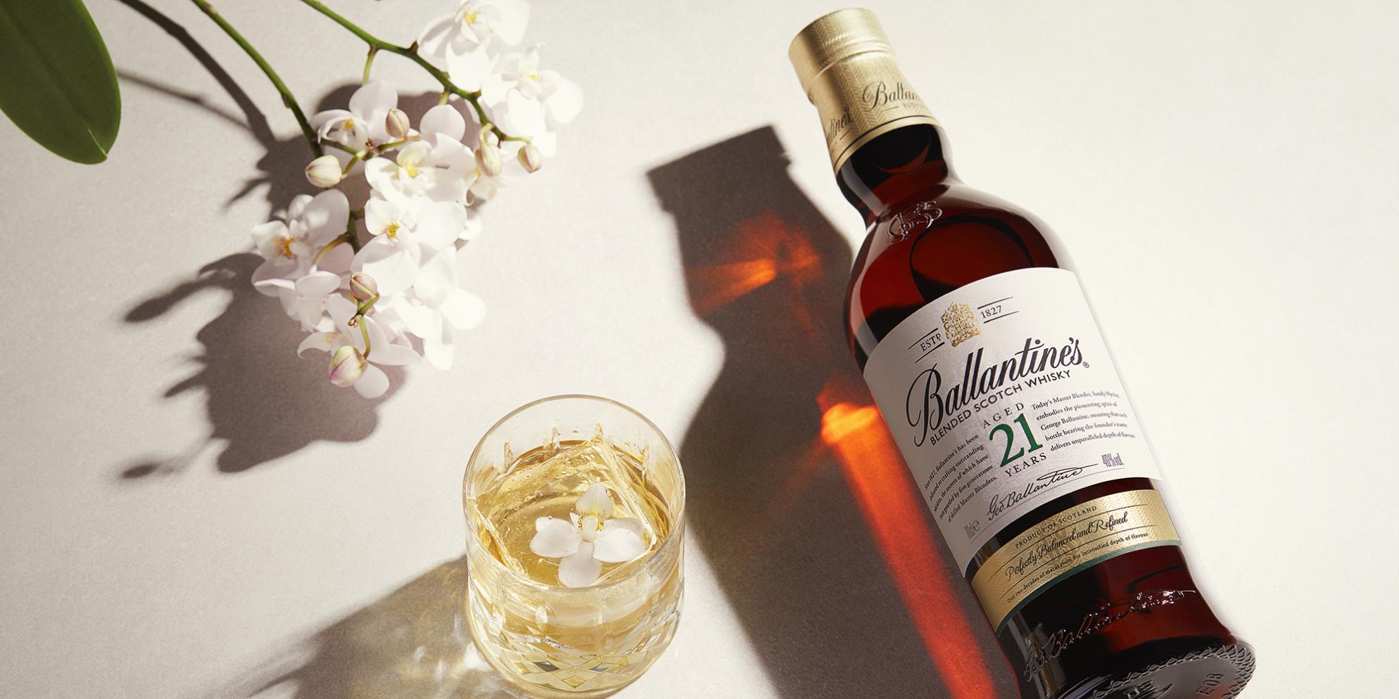 Ballantine's 21 Whisky Cocktails | White Orchid | Prestige | Ballantine's
