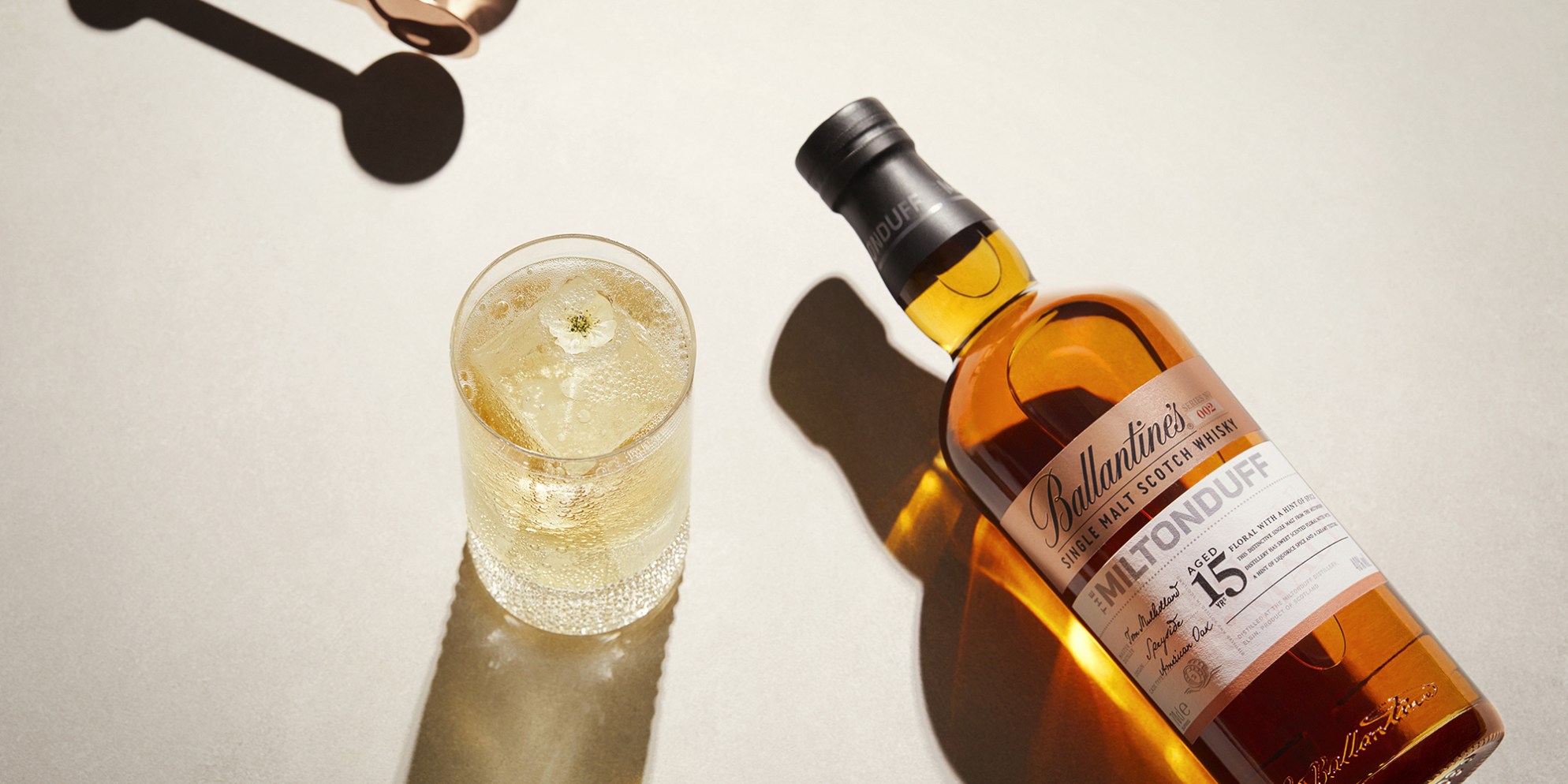 Ballantine's Miltonduff Single Malt Cocktails | Cherry Blossom Highball | Prestige | Ballantine's