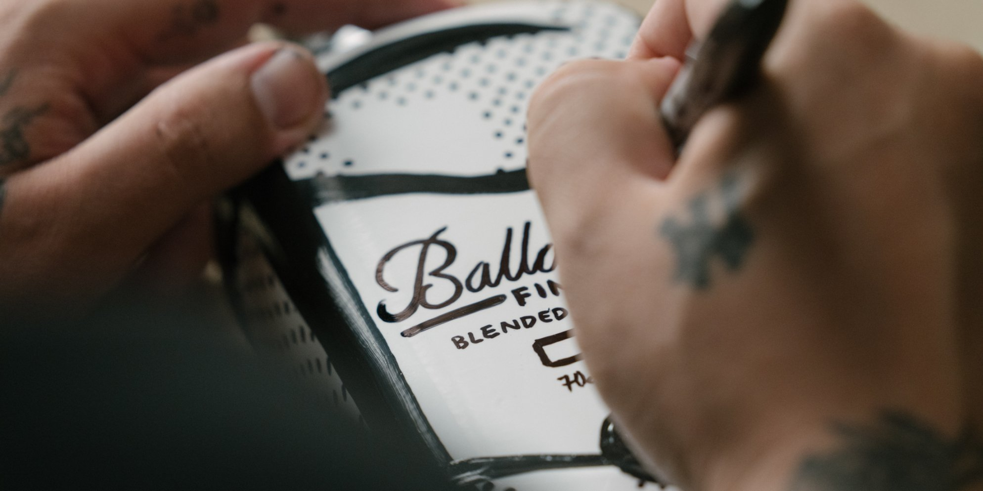 Ballantine's x Joshua Vides Limited Edition black and white bottle