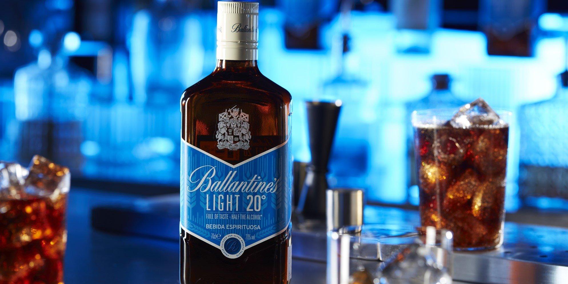 Ballantine's Light served with cola