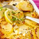 Sidruniga maitsestatud kartuli-kitsejuustuvorm
