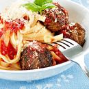 Parmesani lihapallid ja tomatipasta