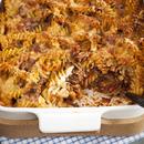 Hakkliha-pasta gratään