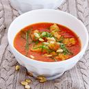 Värske tomati supp basiilikuga