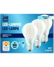 LED-lamp E27 7W 4000K 806LM, 3 tk
