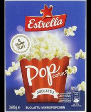 Estrella Micropop soolaga popkorn 3-pakk 240 g