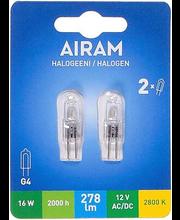 Halogeenlamp 16W G4 2800K 278LM, 2 tk