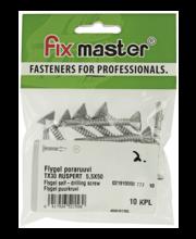 Fixmaster Flygel Ruspert puurkruvi TX30, 5,5 x 50, 10 tk