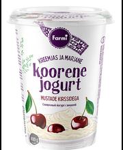 Koorene jogurt mustade kirssidega, 400 g