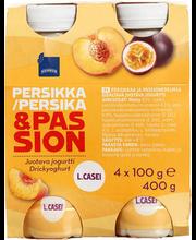 Virsiku-granadilli jogurtijook, 4 x 100 g