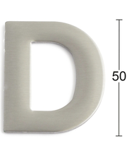 Habo uksetäht D, 50 mm, roostevaba teras
