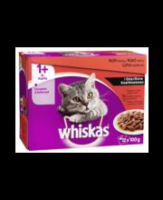 Täissööt kassidele, lihavalik 12 x 100 g