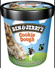 B&J vanillijäätis küpsise tükkidega, 465 ml/406 g