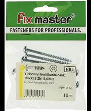 Fixmaster universaalkruvi, ümarpea, osakeere, TX25, 5,0 x 60 ...