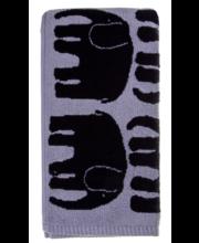 Froteerätik Elefantti 50x70 cm, must/valge 100 % puuvill