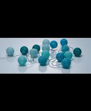 Valguskett Cotton Balls 16LED, sinine, patareid 3xAA ( ei sis...