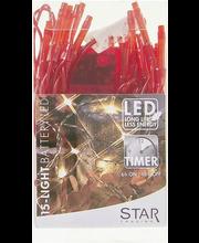 Valguskett 15-led punane
