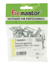 Fixmaster universaalkruvi, peitpea, TX15 ZN, 4,0 x 25 mm, 50 tk
