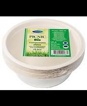 Kauss Picnic Bio 500 ml, valge 10 tk, suhkruroog