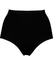 Naiste aluspüksid 3 paari, must XXL