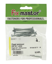 Fixmaster Flygel puurkruvi ZN PH2, 4,8 x 50, 10 tk